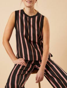 TOP aus Tencel Print Stripes  - LANIUS