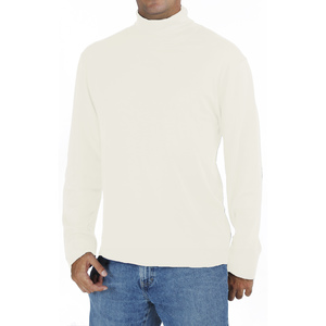 Langarm-T Shirt mit Rollkragen- Biologischer Pima Baumwolle - B.e Quality