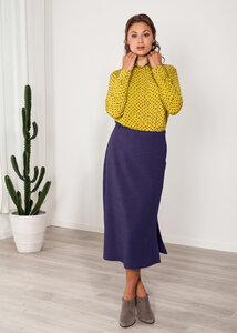 Bluse Damenhemd weiß, gelb oder türkis mit Print Herzen Viskose - SinWeaver alternative fashion