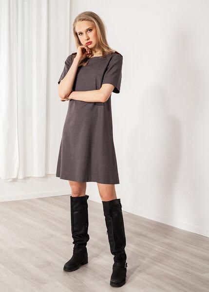 SinWeaver alternative fashion - Kurzes Kleid Leinen grau ...