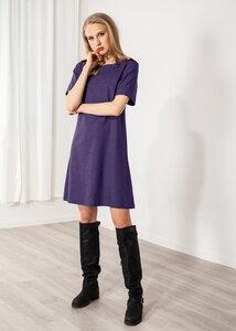 Kurzes Kleid Leinen grau oder blau schlicht - SinWeaver alternative fashion