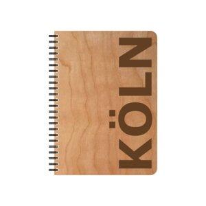 Notizblock Köln mit Kirschholzumschlag - echtholz