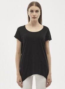 T-Shirt aus Tencel-Mix mit Asymmetrischem Saum - ORGANICATION