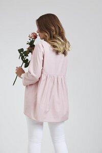 Bluse aus Rosenfaser mit Detail - like a bird