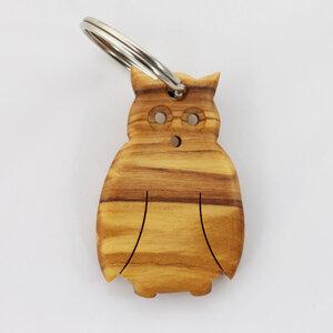 """Schlüsselanhänger aus Holz """"Eule"""" - Mitienda Shop"""
