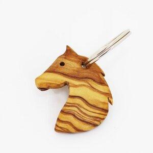 "Schlüsselanhänger aus Holz ""Pferd"" | Holz Anhänger - Mitienda Shop"