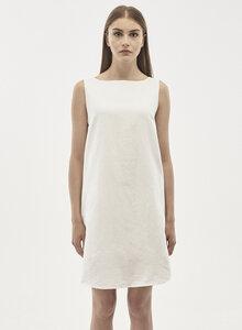 Kleid aus Leinen-Mix mit U-Boot-Ausschnitt - ORGANICATION