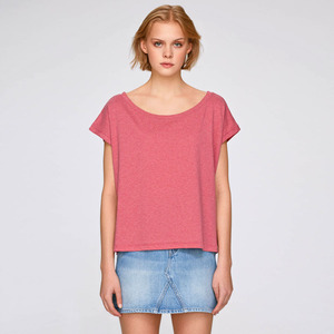 Basic Cropped Shirt Berry aus Biobaumwolle - Gary Mash