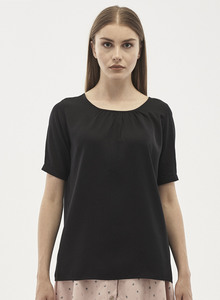 Kurzarm Bluse aus Tencel - ORGANICATION