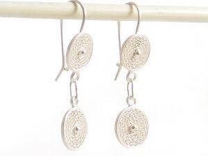 Ohrringe zwei Geflechte klein Silber - Filigrana Schmuck