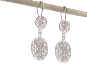 Ohrringe Schlaufen zweifach Silber - Filigrana Schmuck