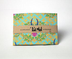 Tashi- das Stofftaschentuch aus Biobaumwolle - Einhornauf