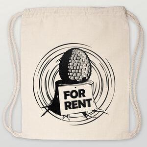 """Festival-Beutel """"For Rent"""" - HANDGEDRUCKT"""