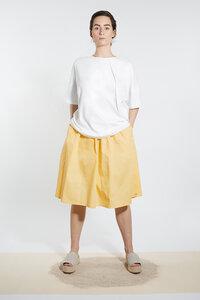 Shirt mit Falte aus Bio-Jersey  - Weiß - LUXAA®