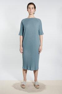 Jersey Kleid mit U-Boot-Ausschnitt - Graublau - LUXAA®