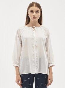 Bluse aus Tencel mit 3/4 Ärmeln - ORGANICATION