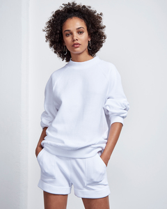 O-Sweater TOULON RIB weiß - JAN N JUNE