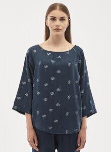 Bluse aus Tencel mit 3/4-Ärmeln und Allover-Print - ORGANICATION