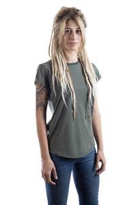 Fairwear Organic Basic Shirt Women Stone Washed Green - Life-Tree