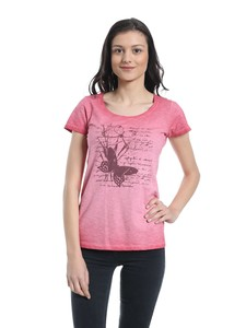 WOR-4132 DAMEN G.DYED T-SHIRT - ORGANICATION