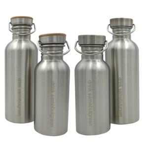 Familienpaket: Edelstahl Trinkflaschen - samebutgreen