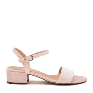 Strappy Sandal #sul powder velvet - NINE TO FIVE