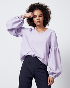 Bluse VINCENZA lilac - JAN N JUNE
