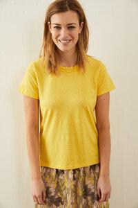 Shirt mit Spitze aus Hanf mit Bio-Baumwolle - LANIUS