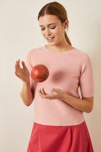 Kurzarm Pullover aus Bio-Baumwolle GOTS - LANIUS