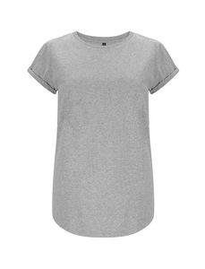 T-Shirt - Womens rolled up sleeve organic - Continental Clothing