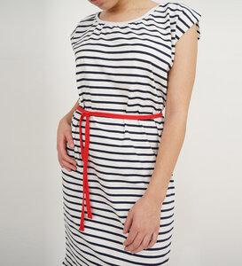 Kleid Stripe aus Bio-Jersey - Lena Schokolade