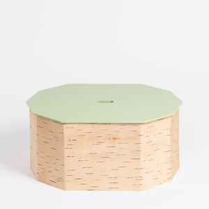 Brotkasten / Brotdose aus Birkenrinde groß mit Zirbenholzboden - 15 x 33 x 26 cm / handgefertigt in Sibirien - MOYA Birch Bark