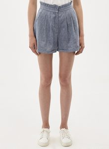 Shorts aus Leinen-Mix in Denim Optik - ORGANICATION