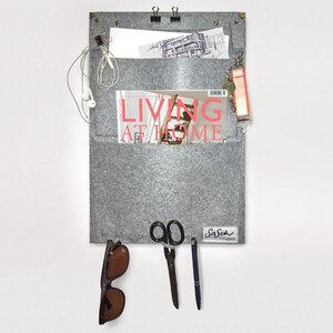 Wandtasche aus grauem Filz - SaSch belt & bags