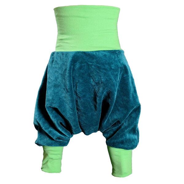562d515c6c liebewicht - Yogahose Pumphose liebewicht Bio Nicki petrol Bündchenfarbe  nach Wahl | Avocadostore