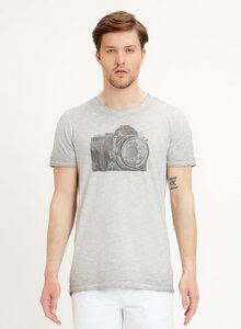 T-Shirt aus Bio-Baumwolle mit Kamera Motiv - ORGANICATION
