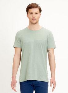 T-Shirt aus Leinen Bio-Baumwolle Mix mit asymmetrischem Schnitt - ORGANICATION