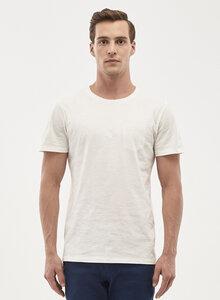 T-Shirt aus %100 Bio-Baumwolle mit Brusttasche - ORGANICATION