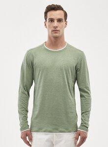 Langarmshirt aus Leinen-Bio-Baumwolle-Mix - ORGANICATION