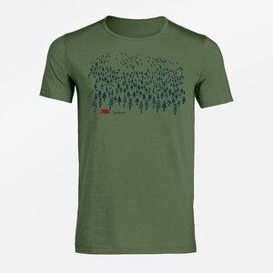 T-Shirt Adores Slub Nature Landscape - GreenBomb