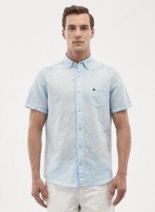 Kurzarm Hemd aus Leinen-Mix - ORGANICATION