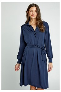Madeline Shirt Dress in Navy - People Tree