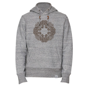 BuddhaOwl - Hoodie - heather grey - Sacred Designs