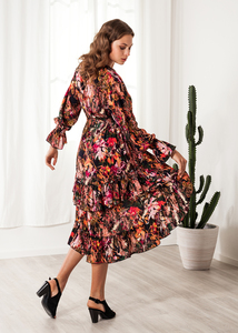 Blumenkleid Viskose Print Sommerkleid - SinWeaver alternative fashion