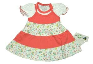 Baby Kleid mit Träger und Kurzarmshirt aus 100% Baumwolle ( bio) - Ebi & Ebi Naturel Line
