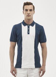 Poloshirt aus Bio-Baumwolle mit kontrast Streifen - ORGANICATION