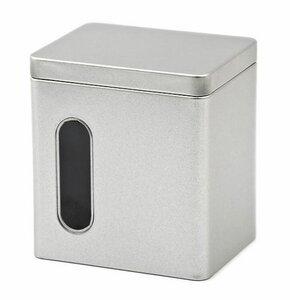 Silberne Vorratsdose mit Sichtfenster - Für den Durchblick !  - DS