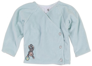 Nicki-Baby-Jacke gefüttert für Mädchen oder Jungen, 100% Bio-Baumwolle - luftagoon