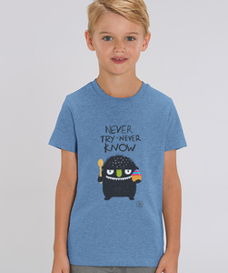 T-Shirt mit Motiv / never try never know - Kultgut