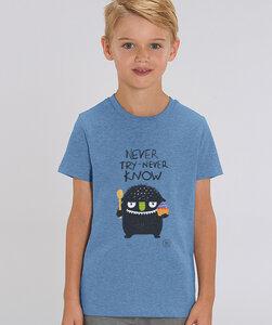 T-Shirt mit Motiv / never try never know - Kultgut